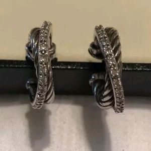 David Yurman Crossover Diamond Earrings